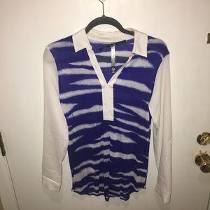 Cobalt Blue & White Kenzie Blouse